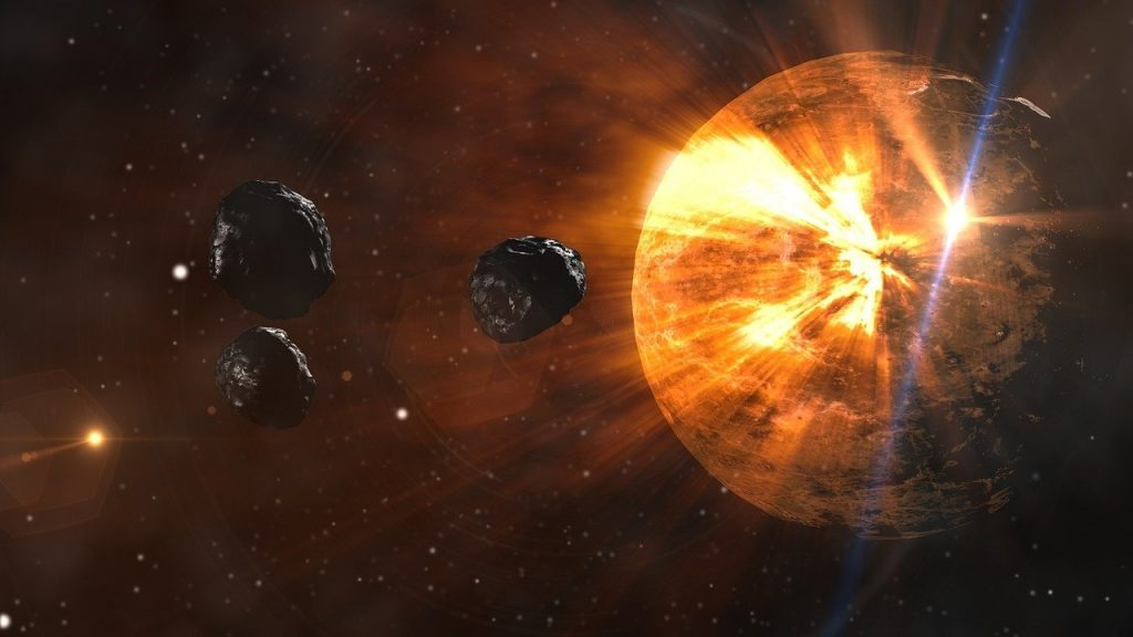 asteroids, planet, space