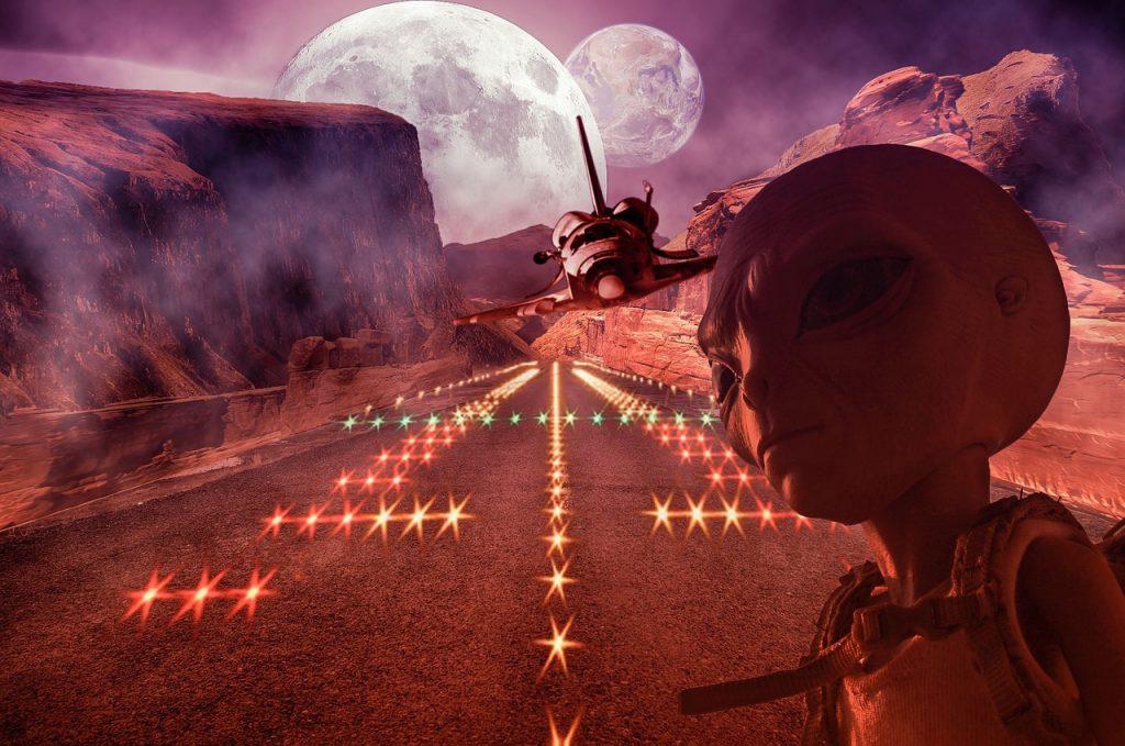shuttle, alien, space shuttle