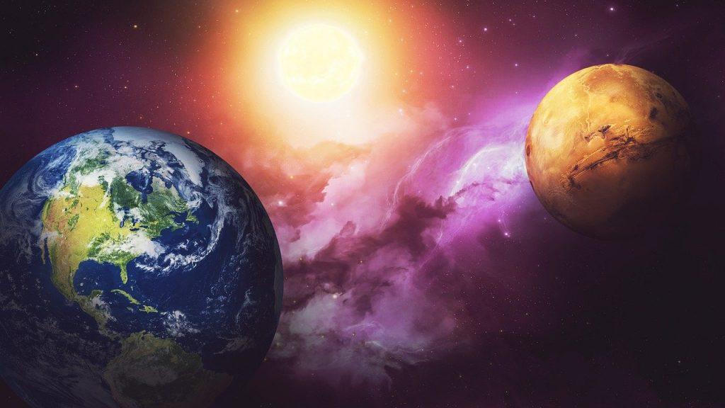 space, galaxies, mars