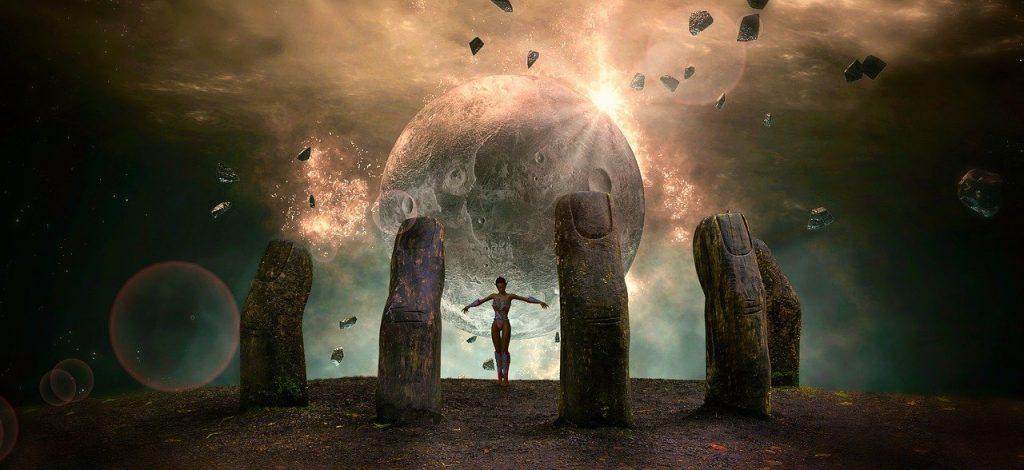 fantasy, planet, moon
