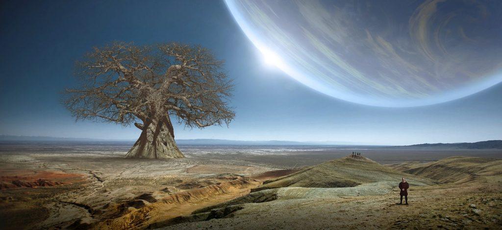 fantasy, tree, planet