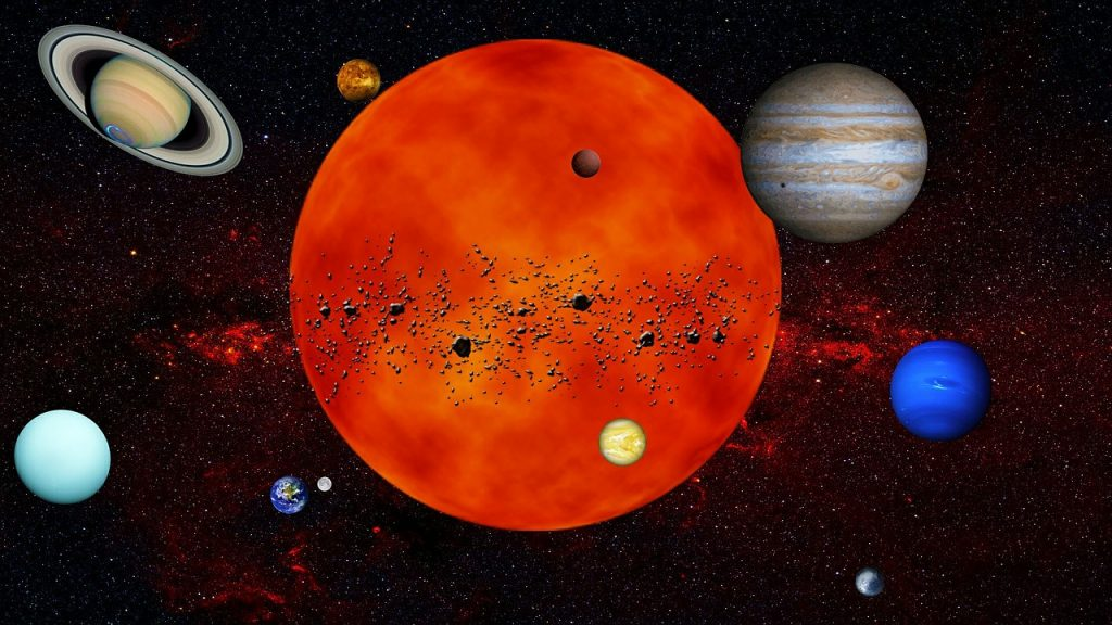 solar system, planets, space